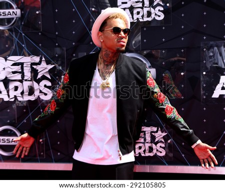 LOS ANGELES - JUN 28:  Chris Brown at the 2015 BET Awards - Arrivals at the Microsoft Theater on June 28, 2015 in Los Angeles, CA