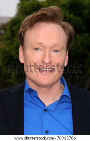 "LOS ANGELES - JUN 8:  Conan O'Brien arriving at the ""Super 8"" Premiere at Village Theataer on June 8, 2011 in Westwood, CA - stock photo"