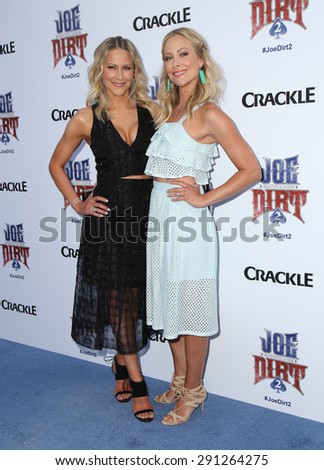 "LOS ANGELES - JUN 24:  Cynthia Daniel, Brittany Daniel at the ""Joe Dirt 2: Beautiful Loser"" Premiere at the Sony Studios on June 24, 2015 in Culver City, CA - stock photo"