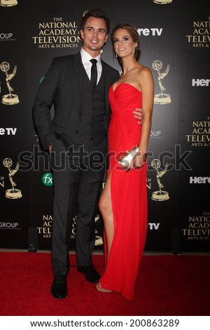 LOS ANGELES - JUN 22:  Darin Brooks, Kelly Kruger at the 2014 Daytime Emmy Awards Arrivals at the Beverly Hilton Hotel on June 22, 2014 in Beverly Hills, CA - stock photo