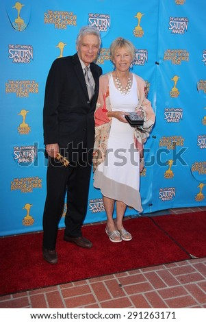LOS ANGELES - JUN 25:  David Selby at the 41st Annual Saturn Awards Arrivals at the The Castaways on June 25, 2015 in Burbank, CA - stock photo
