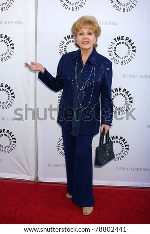 LOS ANGELES - JUN 7:  Debbie Reynolds arrives at the Debbie Reynolds Hollywood Memorabilia Collection Auction & Auction Preview at Paley Center For Media on June 7, 2011 in Beverly Hills, CA - stock photo