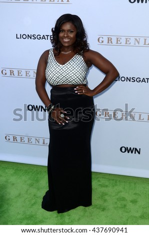 LOS ANGELES - JUN 15:  Deborah Joy Winans at the Greenleaf OWN Series Premiere at the The Lot on June 15, 2016 in West Hollywood, CA - stock photo