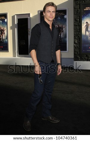 LOS ANGELES - JUN 8: Derek Hough at the 'Rock of Ages' Los Angeles premiere held at Grauman's Chinese Theater on June 8, 2012 in Los Angeles, California
