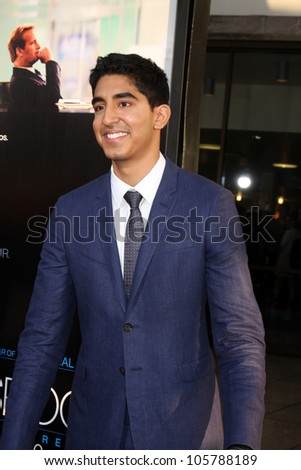"LOS ANGELES - JUN 20: Dev Patel at HBO's ""The Newsroom"" LA Premiere at Cinerama Dome Theater on June 20, 2012 in Los Angeles, California"