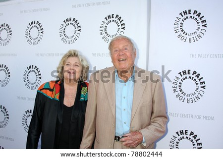 LOS ANGELES - JUN 7:  Dick Van Patten arrive at the Debbie Reynolds Hollywood Memorabilia Collection Auction & Auction Preview at Paley Center For Media on June 7, 2011 in Beverly Hills, CA - stock photo