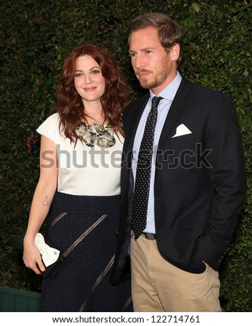 LOS ANGELES - JUN 04:  DREW BARRYMORE & WILL KOPELMAN Natural Resources Defense Council's Oceans Initiative  on June 06, 2011 in Mailbu, CA - stock photo