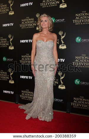 LOS ANGELES - JUN 22:  Eileen Davidson at the 2014 Daytime Emmy Awards Arrivals at the Beverly Hilton Hotel on June 22, 2014 in Beverly Hills, CA - stock photo