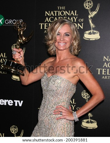 LOS ANGELES - JUN 22:  Eileen Davidson - Outstnading Lead Actress in a Drama at the 2014 Daytime Emmy Awards Press Room at the Beverly Hilton Hotel on June 22, 2014 in Beverly Hills, CA - stock photo