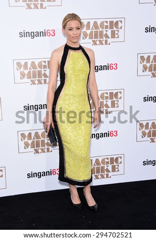 "LOS ANGELES - JUN 25:  Elizabeth Banks arrives to the ""Magic Mike XXL"" World Premiere  on June 25, 2015 in Hollywood, CA                 - stock photo"