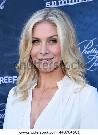 LOS ANGELES - JUN 15:  Elizabeth Mitchell arrives to the arrives to the Pretty Little Liars Season 7 Event  on June 15, 2016 in Hollywood, CA.                 - stock photo