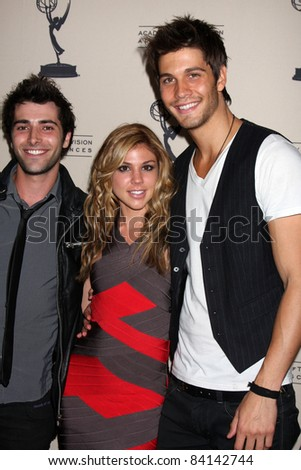 LOS ANGELES - JUN 16:  Freddie Smith, Kate Mansi, Casey Jon Deidrick at the Academy of Television Arts and Sciences Daytime Emmy Nominee Reception at SLS Hotel on June 16, 2011 in Beverly Hills, CA