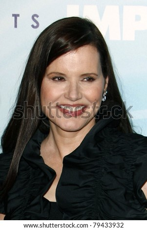 LOS ANGELES - JUN 16:  Geena Davis arrives at the 2011 Women In Film Crystal + Lucy Awards  at Beverly Hilton Hotel  on June 16, 2011 in Beverly Hills, CA - stock photo