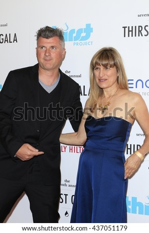 LOS ANGELES - JUN 13:  Guest, Catherine Hardwicke at the 7th Annual Thirst Gala at the Beverly Hilton Hotel on June 13, 2016 in Beverly Hills, CA - stock photo