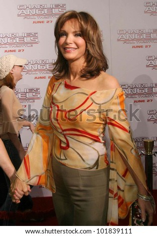LOS ANGELES - JUN 18: Jaclyn Smith at the premiere of 'Charlie's Angels: Full Throttle' on June 18, 2003 in Los Angeles, California - stock photo