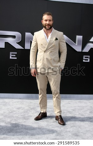 "LOS ANGELES - JUN 28:  Jai Courtney at the ""Terminator Genisys"" Los Angeles Premiere at the Dolby Theater on June 28, 2015 in Los Angeles, CA - stock photo"