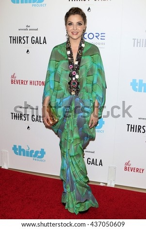 LOS ANGELES - JUN 13:  Jen Lilley at the 7th Annual Thirst Gala at the Beverly Hilton Hotel on June 13, 2016 in Beverly Hills, CA - stock photo