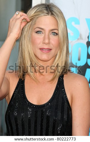 """LOS ANGELES - JUN 30:  Jennifer Aniston arriving at the """"Horrible Bosses"""" Premiere at Graumans Chinese Theater on June 30, 2011 in Los Angeles, CA - stock photo"""
