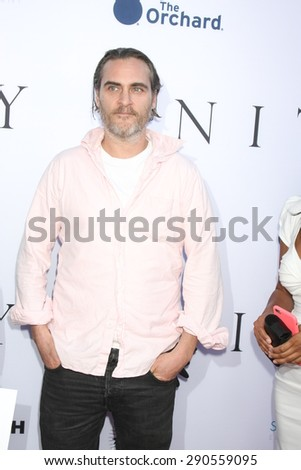 "LOS ANGELES - JUN 24:  Joaquin Phoenix at the ""Unity"" Documentary World Premeire at the Director's Guild of America on June 24, 2015 in Los Angeles, CA"