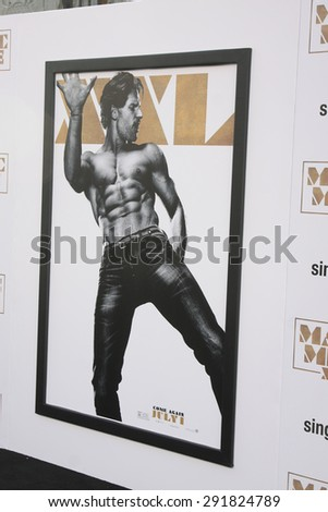 "LOS ANGELES - JUN 25:  Joe Manganiello Magic Mike XXL Poster at the ""Magic Mike XXL"" Premiere at the TCL Chinese Theater on June 25, 2015 in Los Angeles, CA