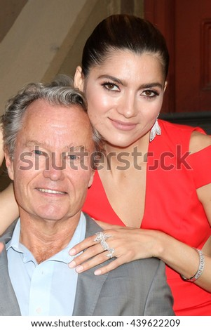 LOS ANGELES - JUN 18: John Savage, Blanca Blanco at the Stand For Kids Gala at the Twentieth Century Fox Studios Lot on  ,  June 18, 2016 in Century City, CA - stock photo
