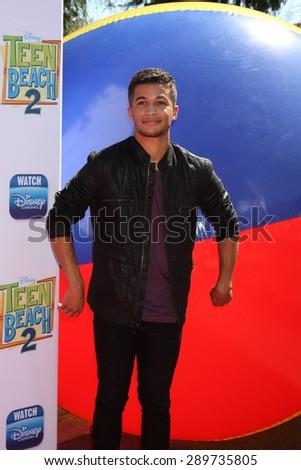 "LOS ANGELES - JUN 22:  Jordan Fisher at the ""Teen Beach 2"" Premiere  at the Walt Disney Studios on June 22, 2015 in Burbank, CA - stock photo"