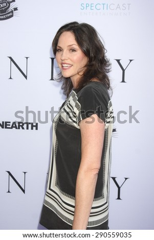 """LOS ANGELES - JUN 24:  Jorja Fox at the """"Unity"""" Documentary World Premeire at the Director's Guild of America on June 24, 2015 in Los Angeles, CA - stock photo"""