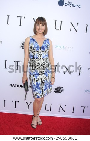 """LOS ANGELES - JUN 24:  Julie Ann Emery at the """"Unity"""" Documentary World Premeire at the Director's Guild of America on June 24, 2015 in Los Angeles, CA - stock photo"""