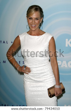 LOS ANGELES - JUN 16:  Julie Benz arrives at the 2011 Women In Film Crystal + Lucy Awards  at Beverly Hilton Hotel  on June 16, 2011 in Beverly Hills, CA - stock photo