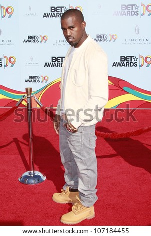 LOS ANGELES - JUN 28: Kanye West at the 2009 BET Awards held at the Shrine Auditorium in Los Angeles, California on June 28, 2009 - stock photo