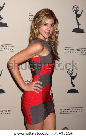 LOS ANGELES - JUN 16:  Kate Mansi arrives at the Academy of Television Arts and Sciences Daytime Emmy Nominee Reception at SLS Hotel at Beverly Hills on June 16, 2011 in Beverly Hills, CA - stock photo