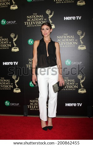 LOS ANGELES - JUN 22:  Kate Mansi at the 2014 Daytime Emmy Awards Arrivals at the Beverly Hilton Hotel on June 22, 2014 in Beverly Hills, CA - stock photo