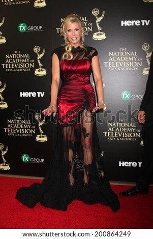 LOS ANGELES - JUN 22:  Katherine Kelly Lang at the 2014 Daytime Emmy Awards Arrivals at the Beverly Hilton Hotel on June 22, 2014 in Beverly Hills, CA - stock photo