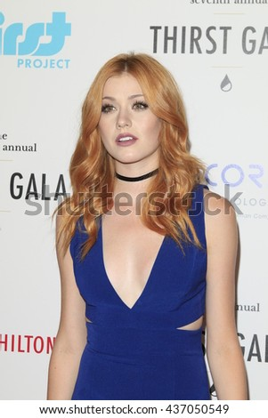 LOS ANGELES - JUN 13:  Katherine McNamara at the 7th Annual Thirst Gala at the Beverly Hilton Hotel on June 13, 2016 in Beverly Hills, CA - stock photo