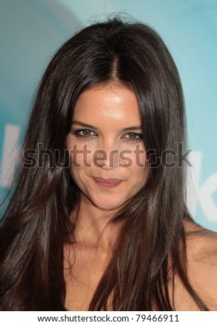 LOS ANGELES - JUN 16:  Katie Holmes arrives to the 2011WIF Crystal & Lucy Awards  on June 16,2011 in Beverly Hills, CA - stock photo