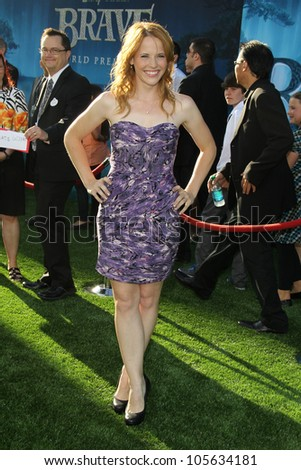 "LOS ANGELES - JUN 18:  Katie Leclerc arrives at the ""Brave"" LAFF Premiere at Dolby Theatre on June 18, 2012 in Los Angeles, CA - stock photo"