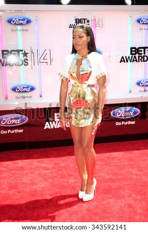 LOS ANGELES - JUN 29:  Keke Palmer at the 2014 BET Awards - Arrivals at the Nokia Theater at LA Live on June 29, 2014 in Los Angeles, CA - stock photo