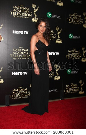 LOS ANGELES - JUN 22:  Kelly Monaco at the 2014 Daytime Emmy Awards Arrivals at the Beverly Hilton Hotel on June 22, 2014 in Beverly Hills, CA - stock photo
