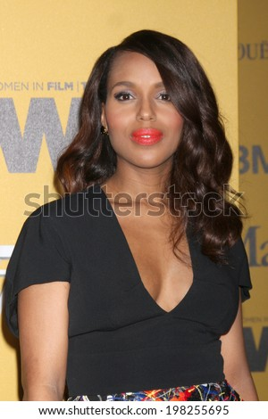 LOS ANGELES - JUN 11:  Kerry Washington at the Women In Film 2014 Crystal + Lucy Awards at Century Plaza Hotel on June 11, 2014 in Beverly Hills, CA - stock photo