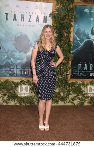 LOS ANGELES - JUN 27:  Kristin Bauer Von Straten at The Legend Of Tarzan Premiere at the Dolby Theater on June 27, 2016 in Los Angeles, CA - stock photo