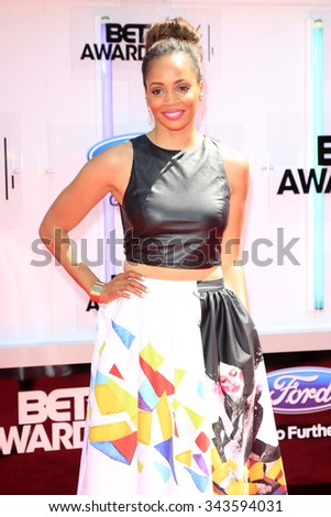 LOS ANGELES - JUN 29:  Latarsha Rose at the 2014 BET Awards - Arrivals at the Nokia Theater at LA Live on June 29, 2014 in Los Angeles, CA - stock photo