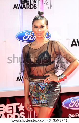 LOS ANGELES - JUN 29:  Laura Govan at the 2014 BET Awards - Arrivals at the Nokia Theater at LA Live on June 29, 2014 in Los Angeles, CA - stock photo