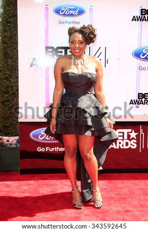 LOS ANGELES - JUN 29:  Ledisi at the 2014 BET Awards - Arrivals at the Nokia Theater at LA Live on June 29, 2014 in Los Angeles, CA - stock photo