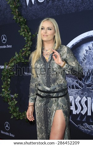 "LOS ANGELES - JUN 9:  Lindsey Vonn at the ""Jurassic World"" World Premiere at the Dolby Theater, Hollywood & Highland on June 9, 2015 in Los Angeles, CA