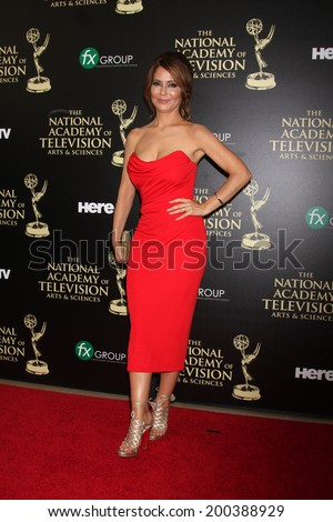 LOS ANGELES - JUN 22:  Lisa LoCicero at the 2014 Daytime Emmy Awards Arrivals at the Beverly Hilton Hotel on June 22, 2014 in Beverly Hills, CA - stock photo