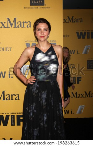 LOS ANGELES - JUN 11:  Maggie Gyllenhaal at the Women In Film 2014 Crystal + Lucy Awards at Century Plaza Hotel on June 11, 2014 in Beverly Hills, CA - stock photo