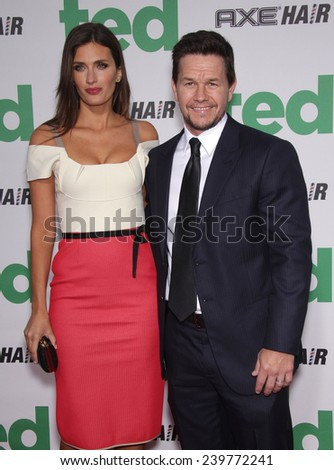 "LOS ANGELES - JUN 21:  MARK WAHLBERG arrives to the ""Ted"" World Premiere  on June 21, 2012 in Hollywood, CA                 - stock photo"
