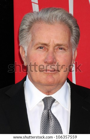 """LOS ANGELES - JUN 28:  Martin Sheen arrives at the """"The Amazing Spider-Man"""" Premiere at Village Theater on June 28, 2012 in Westwood, CA - stock photo"""