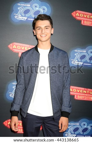 LOS ANGELES - JUN 23:  Max Gecowets at the 100th DCOM Adventures In Babysitting LA Premiere Screening at the Directors Guild of America on June 23, 2016 in Los Angeles, CA - stock photo