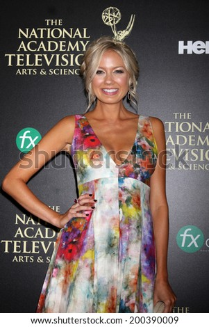 LOS ANGELES - JUN 22:  Melissa Ordway at the 2014 Daytime Emmy Awards Arrivals at the Beverly Hilton Hotel on June 22, 2014 in Beverly Hills, CA - stock photo